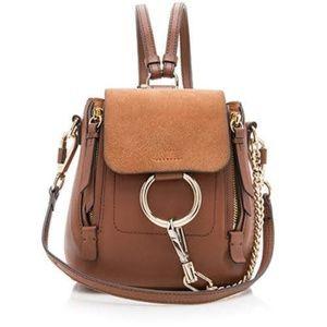 Chloe Faye Mini Brown Backpack